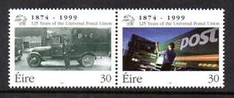 Ireland 1999 125th Anniversary Of UPU Se-tenant Pair, MNH, SG 1234/5 - Neufs