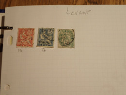 . 167.  LARGE COLLECTION. FRENCH LEVANT . USED.  START. DEPART 1€ - Collections (with Albums)