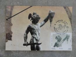 CARTE MAXIMUM CARD PERSEO PAR BENVENUTO CELLINI  ITALIE - Beeldhouwkunst