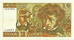 FRANCE - 10 Francs - 03.10.1974 - P 150.a - Serie G.122 - Hector Berlioz - 10 F 1972-1978 ''Berlioz''