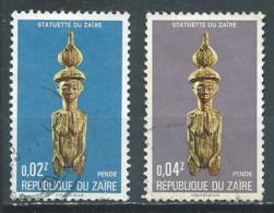 Zaïre YT N°875-876 Statuettes Du Zaïre Oblitéré ° - 1971-79: Gebraucht