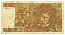 FRANCE - 10 Francs - 06.03.1975 - P 150.b - Serie Q.170 - Hector Berlioz - 10 F 1972-1978 ''Berlioz''