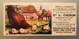 """Buvard RARE - ALIMENT POUR VOLAILLES Et BETAIL """"LE VEXIGRANULAIT"""" ETS CHERON à Bonniéres - FERME D'EXPERIMENTATION - Animals"""