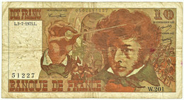 FRANCE - 10 Francs - 03.07.1975 - P 150.b - Serie W.201 - Hector Berlioz - 10 F 1972-1978 ''Berlioz''