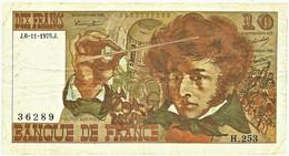 FRANCE - 10 Francs - 06.11.1975 - P 150.b - Serie H.253 - Hector Berlioz - 10 F 1972-1978 ''Berlioz''