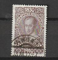 1910 FRANZ JOSEPH 80TH BIRTHDAY 20H FINE USED - Gebruikt