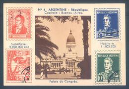 Lot De 12 Chromos Timbres Stamps Philatelie 6 X 9 Cm Argentine Bulgarie Lettonie Haiti - Unclassified