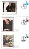 Enveloppes FDC Soie 2660 à 2662 Roi Albert II - 1991-00