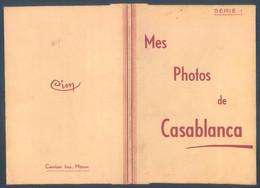 Maroc CASABLANCA Pochette De 10 Photos 6.5 X 11 Cm - Orte