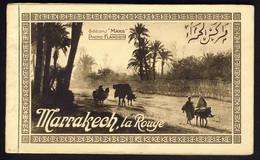 Maroc MARRAKECH La Rouge Carnet Complet De 20 CPA Photo Flandrin Edition Mars - Marrakech