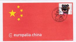 Enveloppe FDC 3968 Europalia China Chine Walcourt - 2001-10