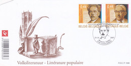 Enveloppe FDC 3464 3465 Littérature Populaire Tongeren - 2001-10