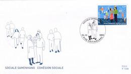 Enveloppe FDC 3211 Cohésion Sociale Sint-Niklaas - 2001-10