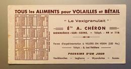 Buvard  LE VEXIGRANULAIT ALIMENT POUR VOLAILLES ET BETAIL   ETS CHERON  Calendrier De 1953 - Animals