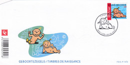 Enveloppe FDC 3404 Timbres De Naissance Fille Lier - 2001-10