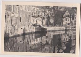 PHOTO 12 X 8 CM 1957 MALINES MECHELEN Belgique Lange Schipstraat - Places