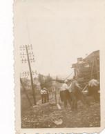 Snapshot 47/58 Chemin De Fer Train Travaux Ouvriers Railroad Cheminot Rail - Trains