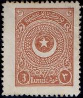Turkey 1924 3 Piaster Perf 12  MH 2011.2719  Ayyildiz Third Printing - Unused Stamps