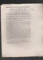 Rare Décret 1792 Numismatique Sur Fabrication 400 Livres D'assignats Avec Cachet Rouge R.F. N° 170 - Historical Documents