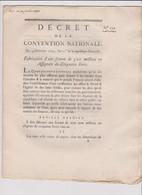 Rare Décret 1792 Numismatique Sur Fabrication 300 M D'assignats 5 L. Avec Cachet Rouge R.F. N° 253 - Historical Documents