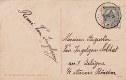 2 Scans 53 Montignies-sur-Sambre à Anvers Sur Carte Armée Belge Régiment Des Grenadiers Officier - 1893-1907 Coat Of Arms