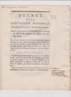 Rare Décret 1792 Numismatique Sur Echange Billets Confiance Avec Cachet Rouge R.F. N° 258 - Historical Documents