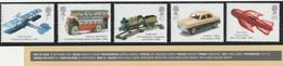 M 402) GB 2003 Mi 2152-56 **: Transport, Modell-Spielzeug: Flugzeug Auto Omnibus Eisenbahn Raumschiff - Unused Stamps