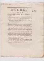 Rare Décret 1792 Numismatique Sur Impression Assignats 10 & 25 Livres + 10 & 15 Sous Avec Cachet Rouge R.F. N° 263 - Historical Documents