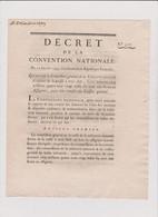 Rare Décret 1793 Numismatique Sur  Retrait Assignats  Avec Cachet Rouge R.F. N° 317 - Historical Documents