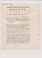 Rare Décret 1793 Numismatique Sur  Fabrication  Assignats  Avec Cachet Rouge R.F. N° 319 - Historical Documents