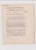 Rare Décret 1793 Numismatique Sur  Création   Assignats  Avec Cachet Rouge R.F. N° 826 - Historical Documents