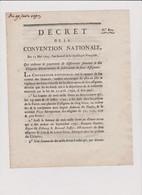 Rare Décret 1793 Numismatique Sur Fabrication Faux  Assignats  Avec Cachet Rouge R.F. N° 872 - Historical Documents