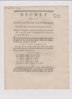 Rare Décret 1793 Numismatique Sur  Division  Assignats  Avec Cachet Rouge R.F. N° 913 - Historical Documents