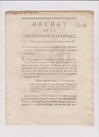 Rare Décret 1793 Numismatique Sur  Peines  Assignats  Avec Cachet Rouge R.F. N° 1308 - Historical Documents