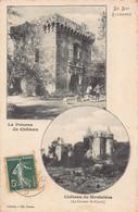 LOT Illustré - Carte Duo ( Le Chateau De POTERNE Animée Et Chateau De Monclera ) - Other Municipalities