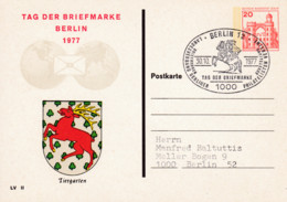 Berlin, PP 076 C2/001, BuSchl 20,  Tag Der Briefmarke, Tiergarten - Private Postcards - Used