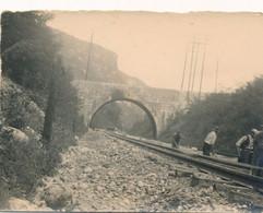 Snapshot 49/58 Chemin De Fer Train Travaux Ouvriers Railroad Cheminot Rail - Trains