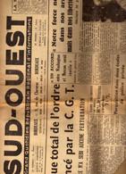 Sud-Ouest Bordeaux - Grève CGT SNCF Rété - Lo Ka Na Tha En Europe - Truman - Blum - Radiesthésiste Burdoncle Gradignan - 1950 - Nu