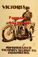 Reproduction D'une Photographie D'une Publicité Ancienne Victoria Motorrader Victoria-Werke A.G Nurnberg - Reproductions