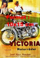 Reproduction D'une Photographie D'une Publicité Ancienne Victoria Motorrader - Reproductions
