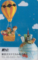 TC JAPON / 110-014 - Sport - MONTGOLFIERE & Globe 1 ** Tokyo Gas ** - Peinture Painting - BALLOON JAPAN Phonecard - 246 - Sport