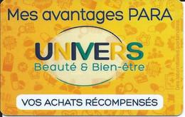 Carte Fidélité UNIVERS Beauté Et Bien-étre - Gift Cards