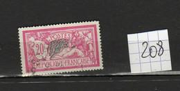 Lot Timbres Français Type MERSON N° 208 , Oblitéré - 1900-27 Merson