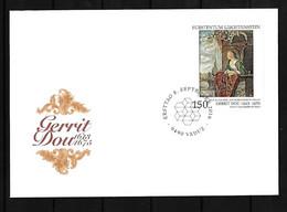 2016 Joint/Gemeinschaftsausgabe Liechtenstein And Czech Republic, FDC LIECHTENSTEIN: Painter Gerard Dou - Gezamelijke Uitgaven
