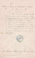 MAMERS RECETTE DES FINANCES DE L ARRONDISSEMENT AVEC CACHET ANNEE 1872 A MR PETIBON NOTAIRE A LA FERTE BERNARD - Unclassified
