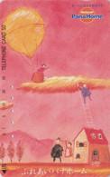 TC JAPON / 290-11063 - MONTGOLFIERE - Peinture Couple Echelle ** Panahome ** - BALLOON JAPAN Painting Phonecard - 242 - Sport
