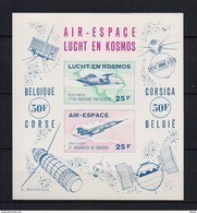LUCHT EN KOSMOS BLOK ONGETAND POSTFRIS**  A185 - Commemorative Labels