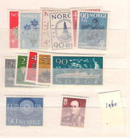 1960 MNH Norway Year Collection According Michel System - Ganze Jahrgänge