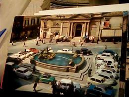 CALTANISSETTA PIAZZA GARIBALDI FONTANA TRIPISCIANO AUTO CAR FIAT BIANCHINA 600 MULTIPLA Van 500 Famigliare VB1967 HT1280 - Caltanissetta