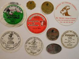 A-17156 - Lot De 10 étiquettes Fromage Chèvre Vache Charente-Maritime étiquette Chenac Aigrefeuille St Hilaire Du Bois - Kaas